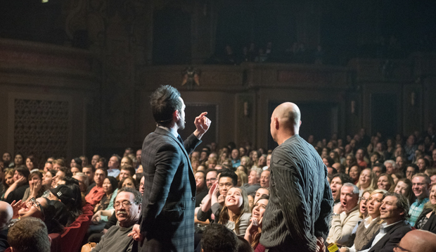 Colin Cloud on theatre stage